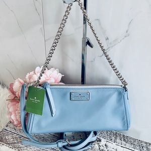 🛍NWT Kate Spade adorable Jane bag in soft blue